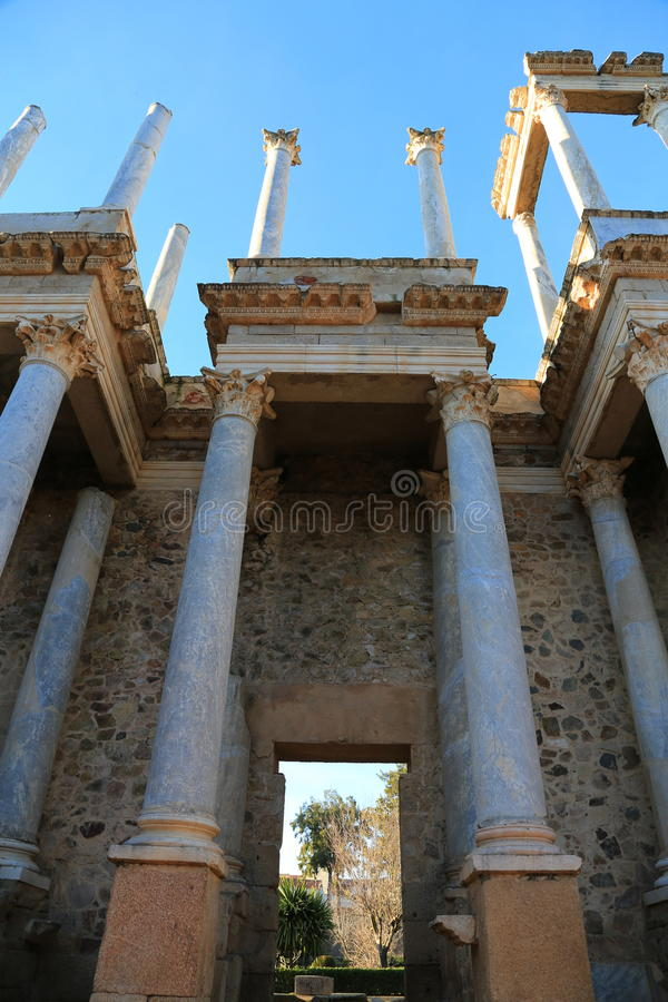 Teatro Romano de Mérida stockfoto