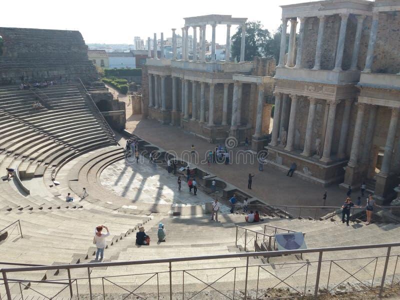 Teatro Romano de Merida Spain lizenzfreies stockfoto