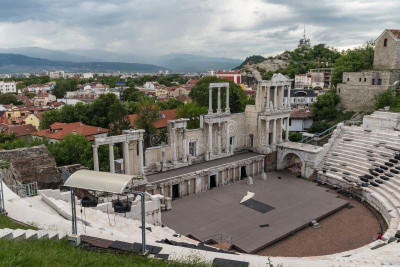 Teatro romano de Philippopolis en Plovdiv, Bulgaria imagenes de archivo