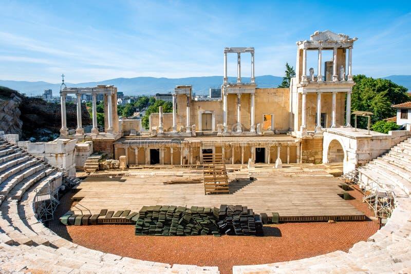 Teatro romano de Plovdiv imagenes de archivo