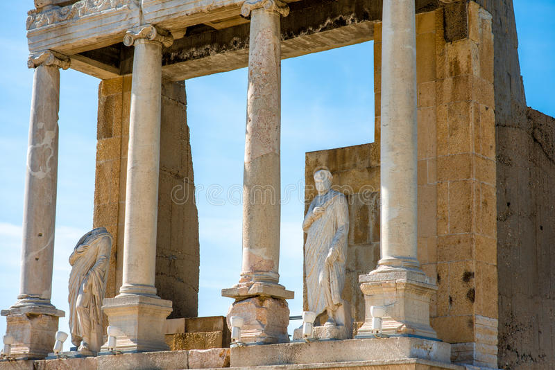Teatro romano de Plovdiv imagen de archivo
