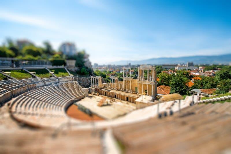 Teatro romano de Plovdiv foto de archivo