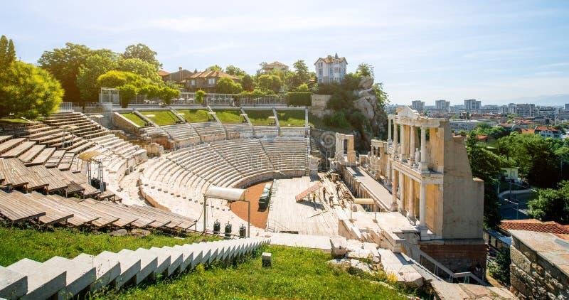 Teatro romano de Plovdiv imágenes de archivo libres de regalías