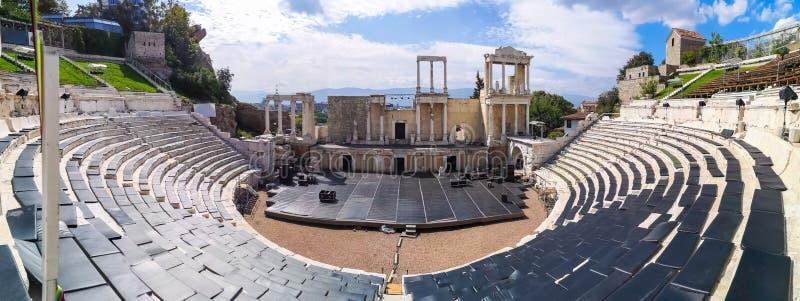 Teatro romano de Plovdiv, Bulgaria fotos de archivo