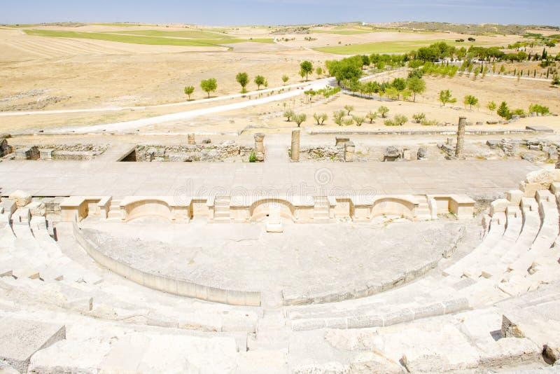Teatro romano de Segobriga imágenes de archivo libres de regalías