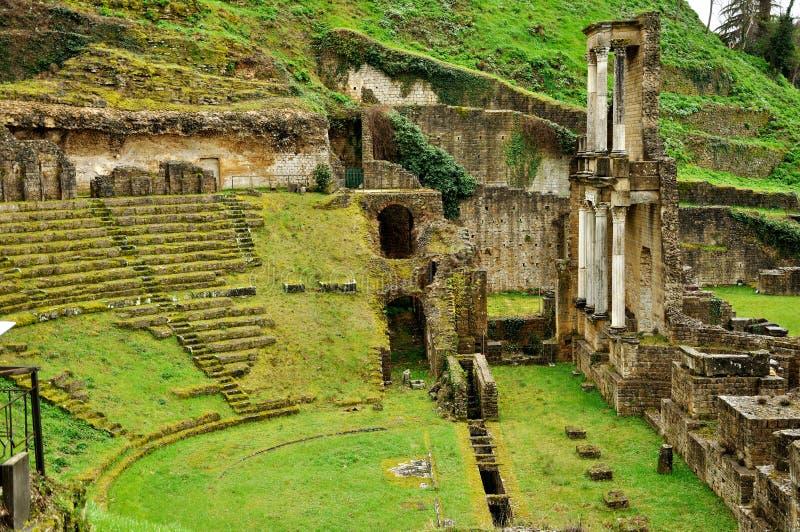 Teatro romano de Volterra fotografía de archivo libre de regalías