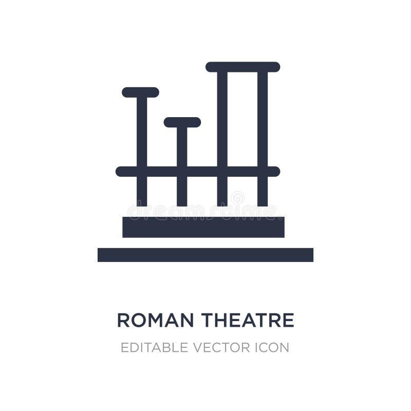 teatro romano del icono de Mérida en el fondo blanco Ejemplo simple del elemento del concepto de los monumentos libre illustration