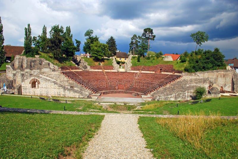 Teatro romano di Augusta Raurica fotografie stock