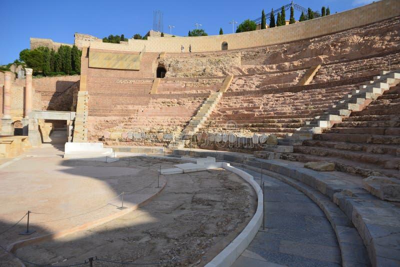 Teatro romano di Cartagine, Spagna fotografie stock