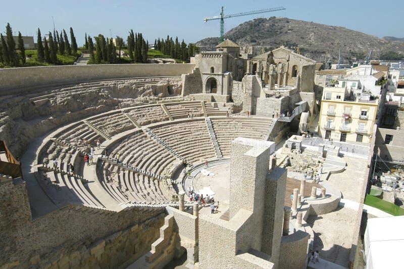 Teatro romano di Cartagine, Spagna fotografia stock libera da diritti