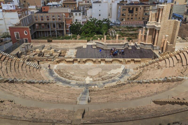 Teatro romano em Cartagena, Espanha fotografia de stock royalty free