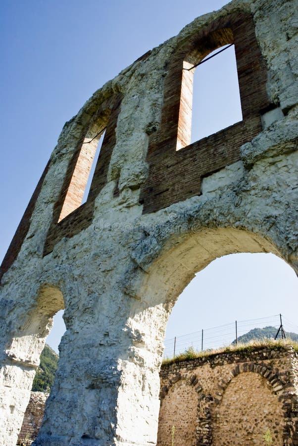 Teatro romano em Gubbio fotografia de stock