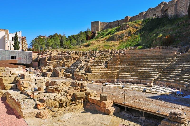 Teatro romano em Malaga, Spain foto de stock royalty free