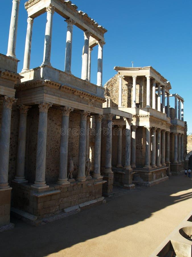 Teatro romano em Merida, Spain fotografia de stock royalty free