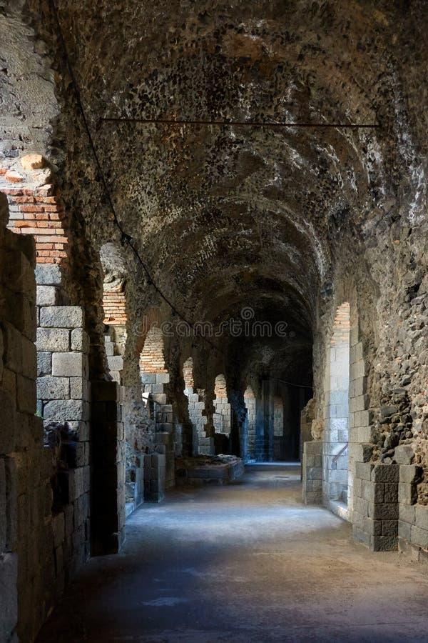 Teatro romano en Catania fotografía de archivo