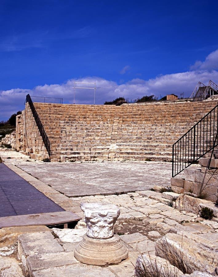 Teatro romano, Kourion, Chipre. foto de archivo