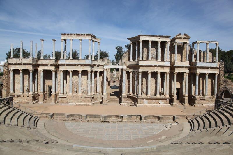 Teatro romano - Merida Spain imagem de stock