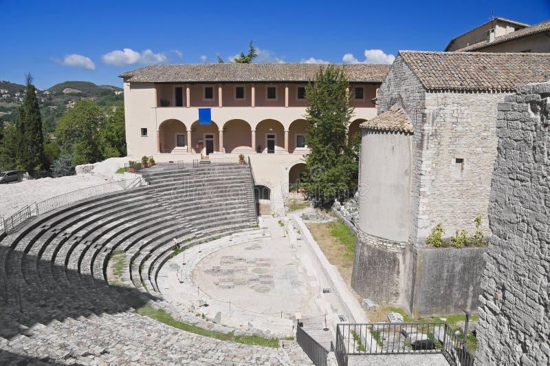 Teatro romano. Spoleto. Umbría. foto de archivo