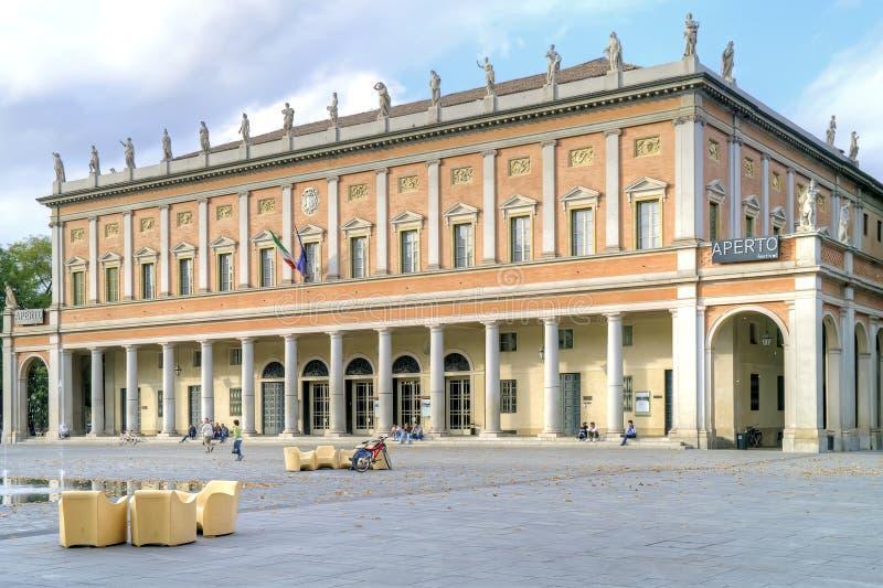Teatro Romolo Valli Ciudad de Reggio Emilia imagen de archivo