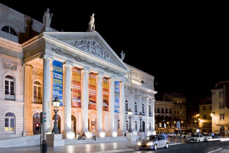 Teatro Rossio Lisboa de Dona Maria II imagens de stock