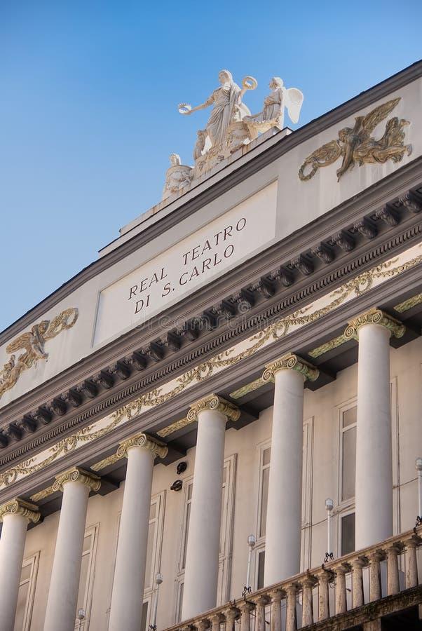 Teatro San Carlo a Napoli fotografia stock
