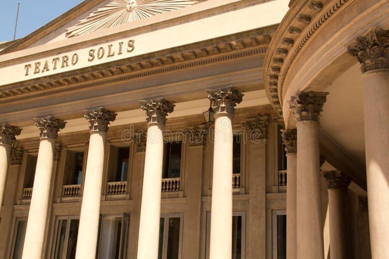Teatro Solís, Ουρουγουάη στοκ φωτογραφία