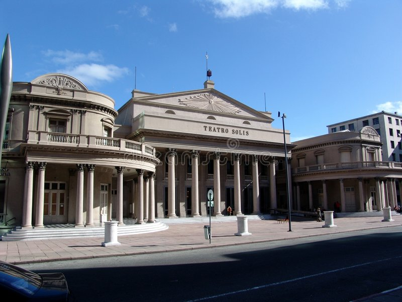 Teatro Solis - Montevideo Uruguay stock afbeeldingen