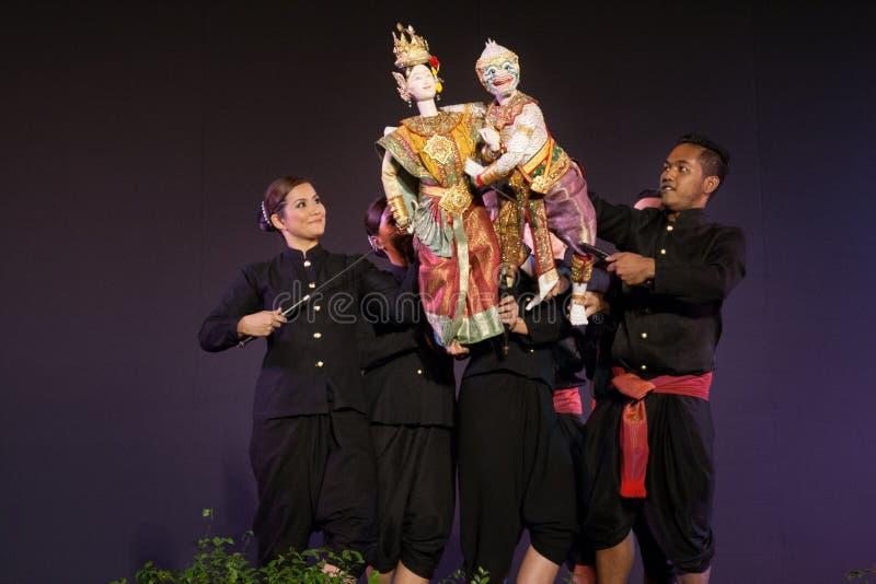 Teatro tailandese del burattino immagini stock libere da diritti