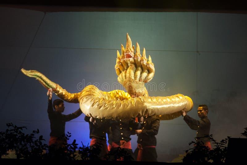 Teatro tailandese del burattino fotografia stock