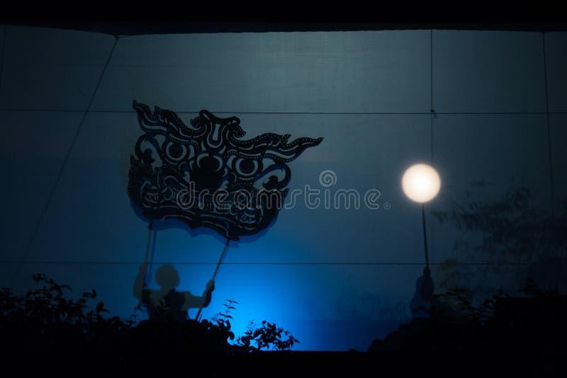 Teatro tailandese del burattino immagine stock