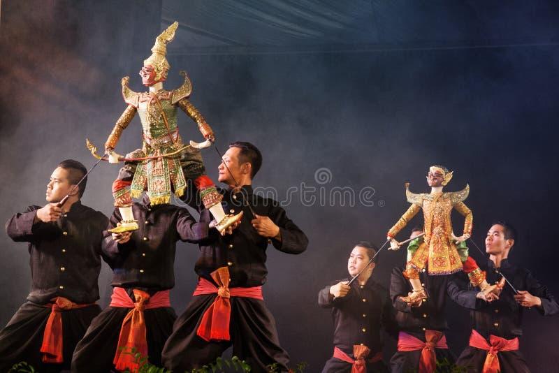 Teatro tailandese del burattino fotografia stock libera da diritti