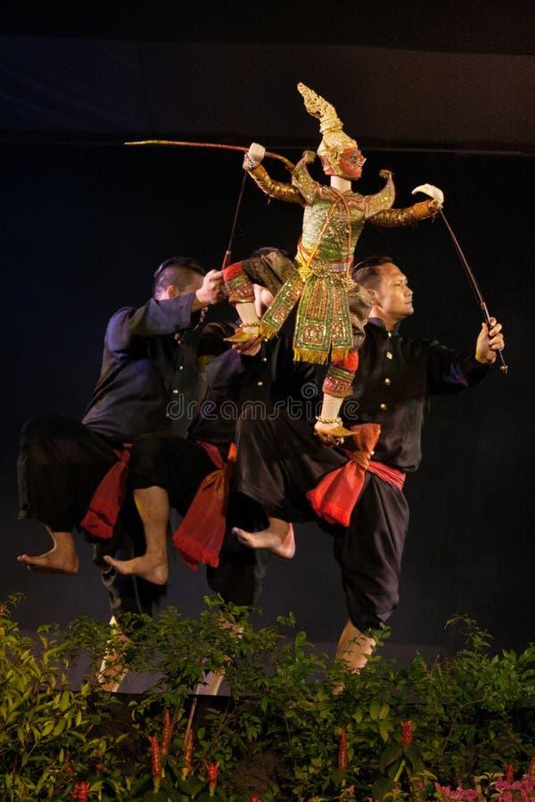 Teatro tailandese del burattino immagini stock