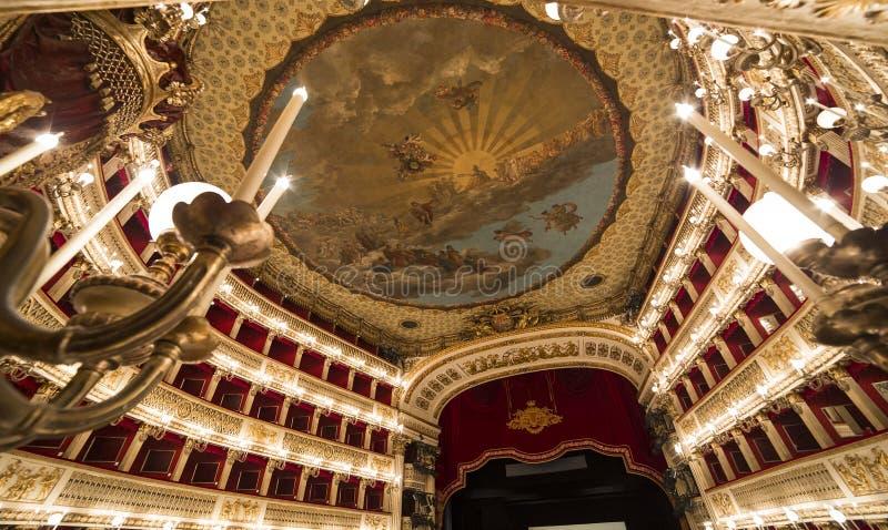 Teatro théatre de l'opéra de San Carlo, Naples, Italie photos stock