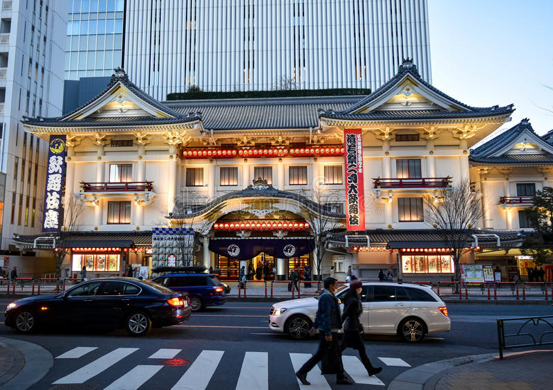 Teatro Tokio de Kabukiza fotos de archivo