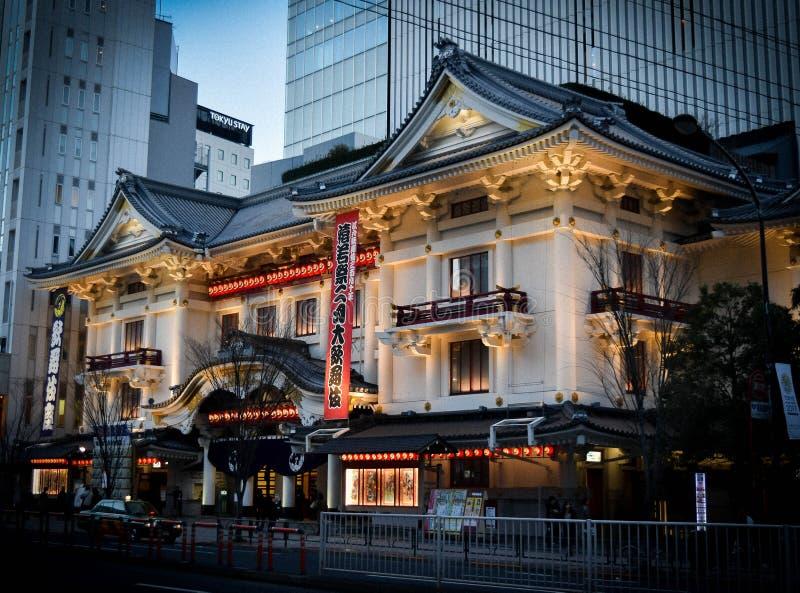 Teatro Tokyo di Kabukiza immagine stock