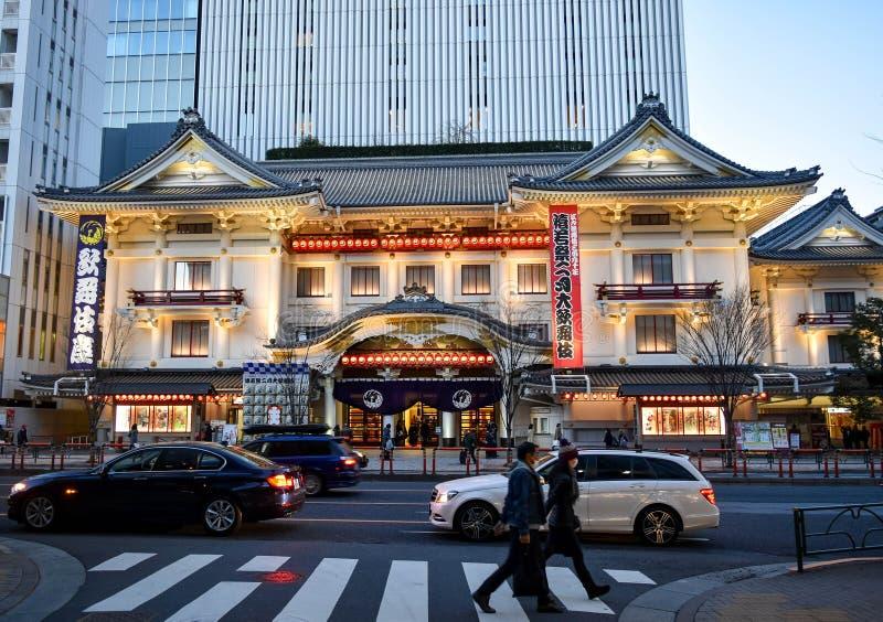 Teatro Tokyo di Kabukiza fotografie stock