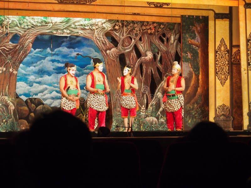 Teatro tradicional del Javanese adentro a solas imagen de archivo libre de regalías