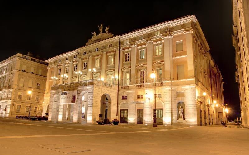 Teatro Trieste de Verdi foto de archivo libre de regalías