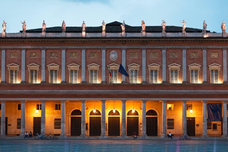 Teatro Valli in Reggio Emilia fotografie stock libere da diritti