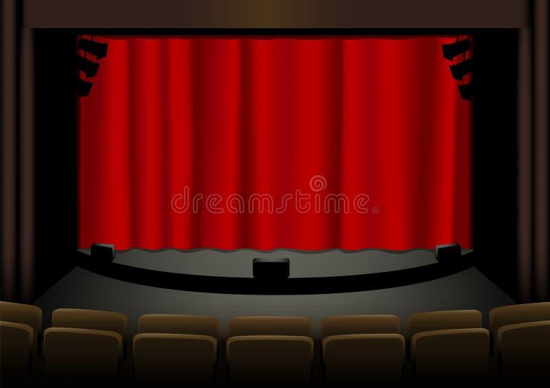 Teatro vazio ilustração royalty free