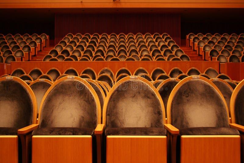 Teatro vazio fotografia de stock