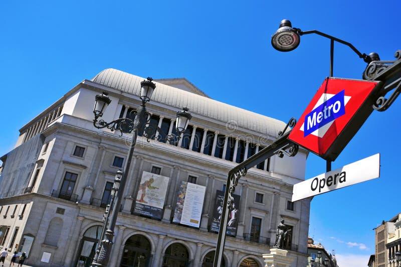 Teatro vrai à Madrid, Espagne image libre de droits