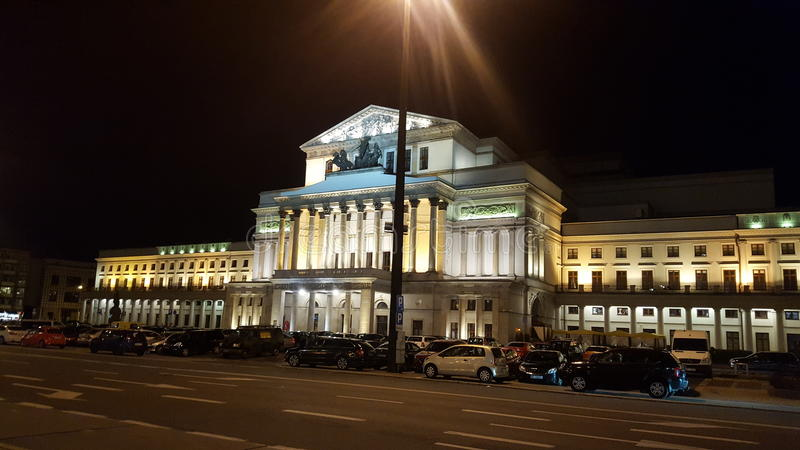 Teatro in Warszaw fotografia stock libera da diritti