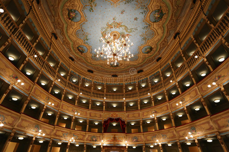 Teatro Zandonai. Rovereto in Trentino Italia royalty free stock photos