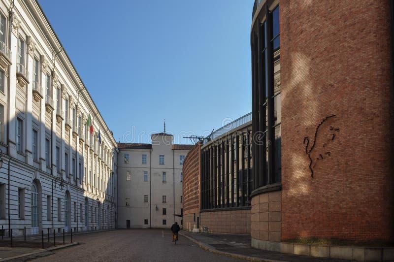 Teatroregio koninklijk theater in Turijn royalty-vrije stock afbeeldingen