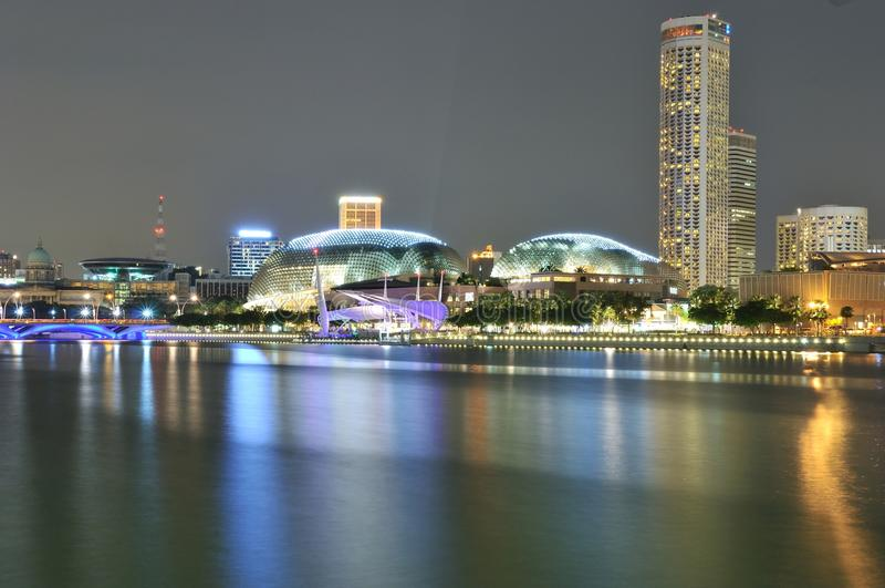 Teatros en la bahía, Singapur de la explanada fotografía de archivo libre de regalías
