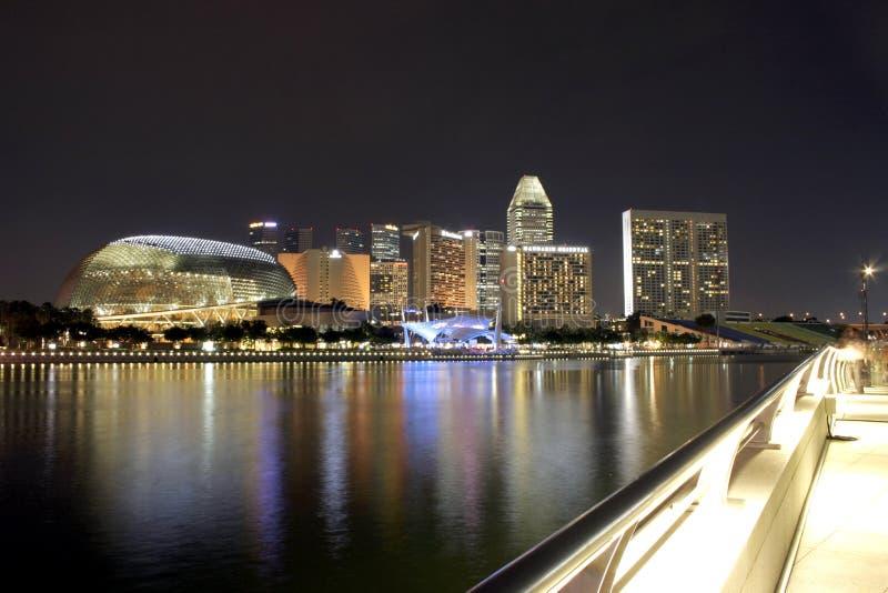 """Teatros en la bahía, Singapur del †de la explanada """" fotografía de archivo"""