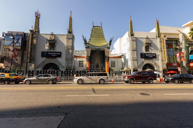 Teatros na caminhada da fama, Hollywood, Los Angeles fotos de stock