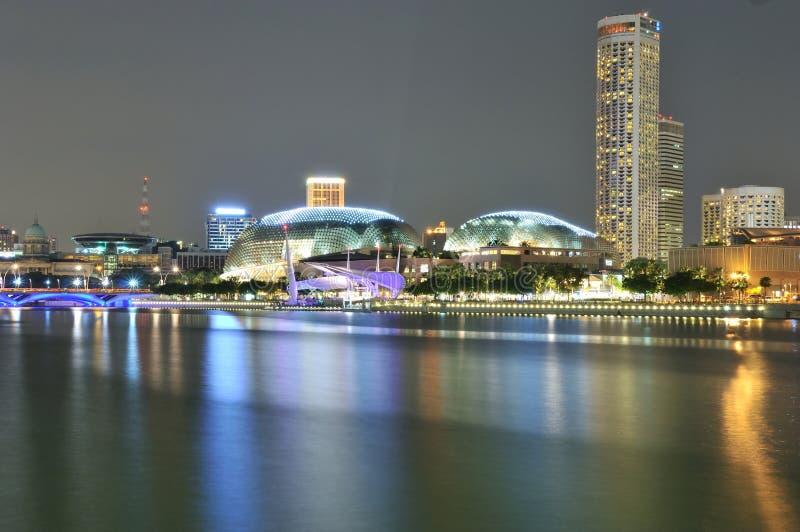 Teatros no louro, Singapore do Esplanade fotografia de stock royalty free