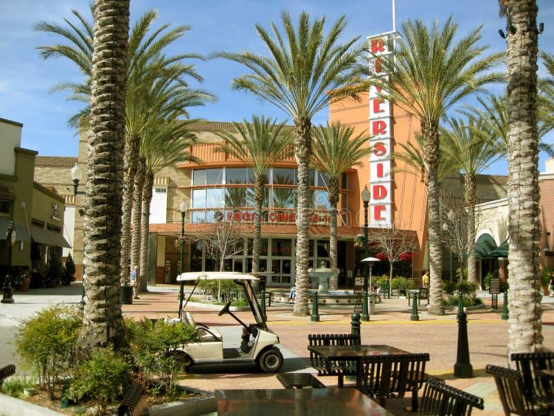 Teatros, plaza de la orilla, orilla, California, los E.E.U.U. fotos de archivo libres de regalías